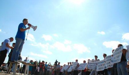 """Акция """"Похороны легального такси"""", 9 августа 2011 Ижевск"""