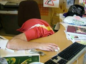 сон на работе